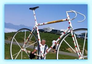 Col du Tourmalet (Hautes Pyrénées) Vélo du maillot à pois