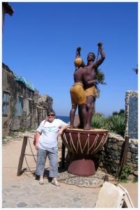 La statue des esclaves, île de Gorée (Sénégal)