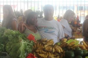 Marché du diamant en Martinique