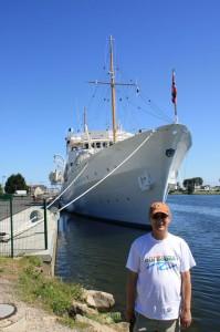 Ouistreham  Prêt à embarquer avec le Roi de Norvège à Ouistreham