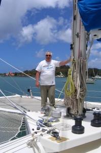 A bord du catamaran Passion 3 en mer des Caraïbes